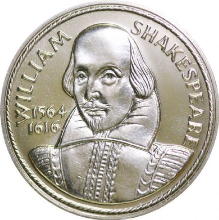 William Shakespeare Medallion